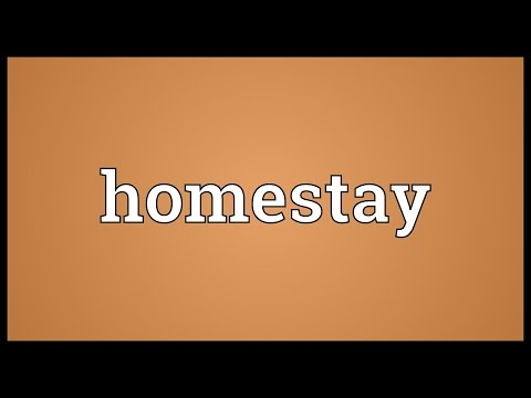 Homestay Meaning