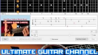 [Guitar Solo Tab] Goodbye Yellow Brick Road (BASIC)