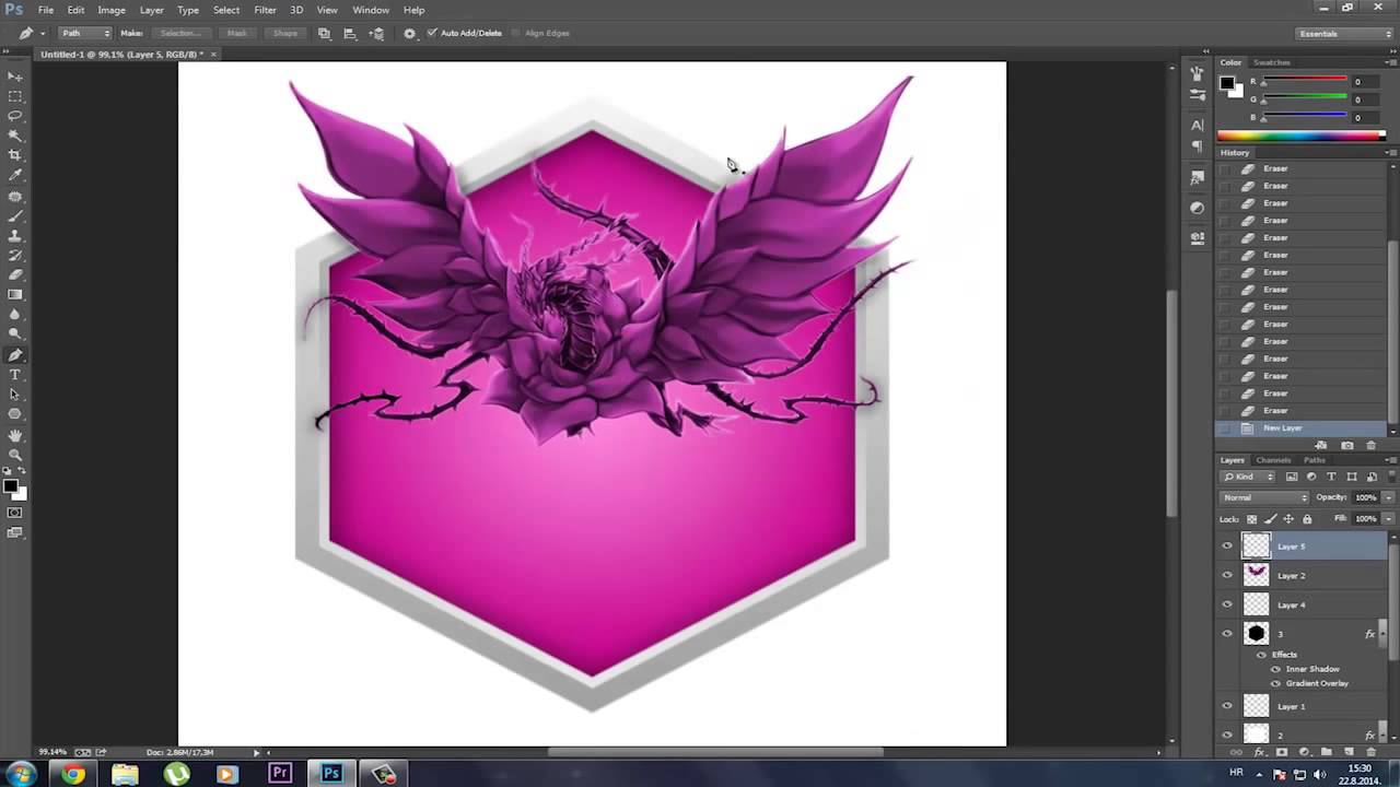 how to make an awesome logo in photoshop