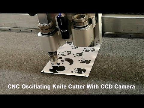 Paper Cutter Cnc oscillation knife cutting machine with CCD camera