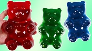 How to Make HUGE GUMMY BEAR Jello Treats!
