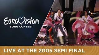 Ivan & Delfin - Czarna Dziewczyna (Poland) Live - Eurovision Song Contest 2005