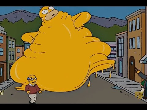 The Simpsons  - Homer Obesity Eats Everything!