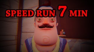 Hello Neighbor Beta Speedrun [7 MINUTES]