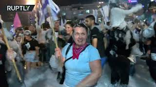 Thousands celebrate in Tel Aviv as Netanyahu removed from power