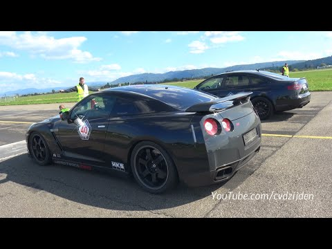 950HP Nissan GT-R R35 Spec-V vs 890HP Audi RS6 4F vs 1200HP Porsche 9ff GTronic