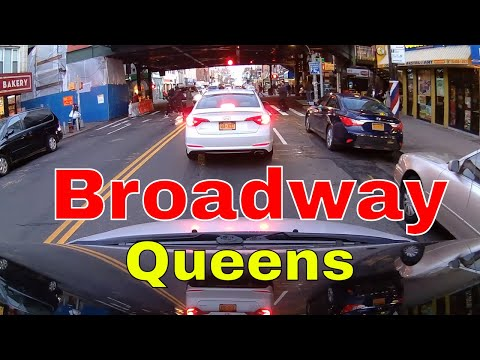 Driving Downtown - Broadway - Astoria, Queens - New York - USA