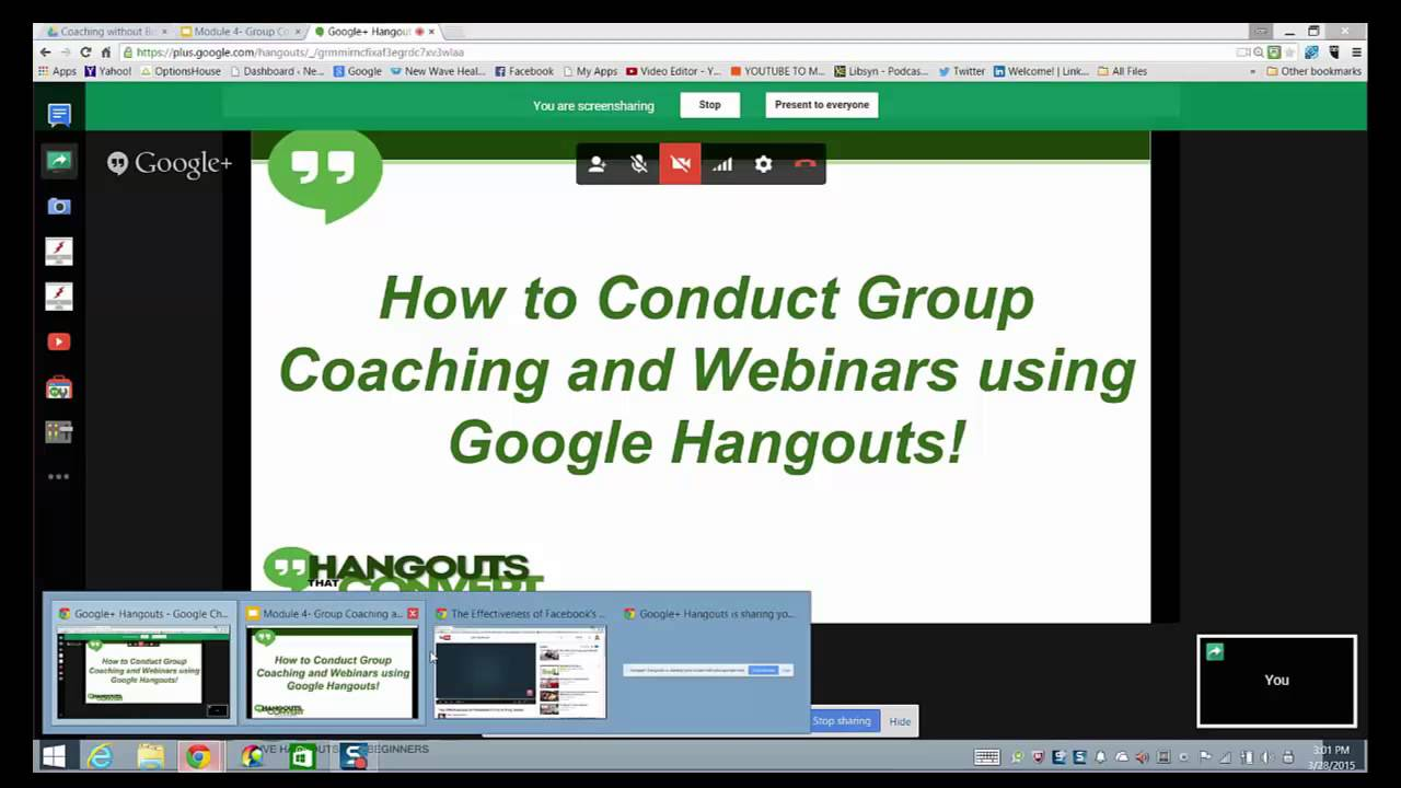 How to Screenshare in a Google Hangout