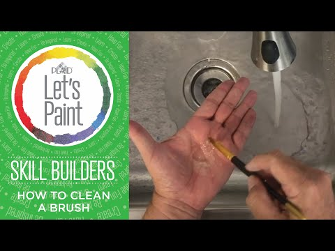 Let's Paint Skill Builder - Cleaning Your Brush