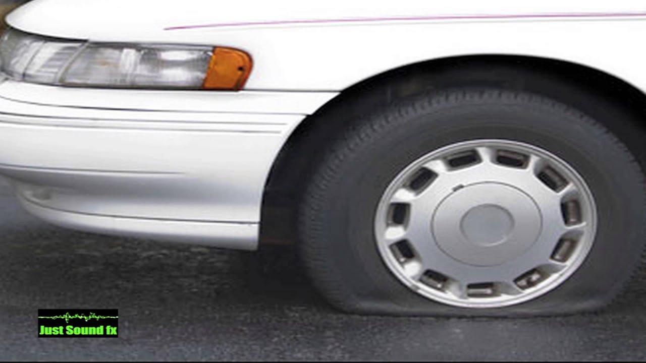 flat tyre pop sound youtube