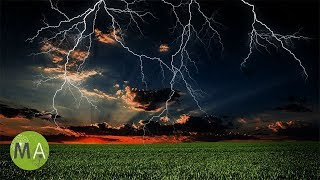 ⛈ Heavy Thunderstorm Sounds for Sleeping to, Howling Wind, Rain Sounds for Relaxation