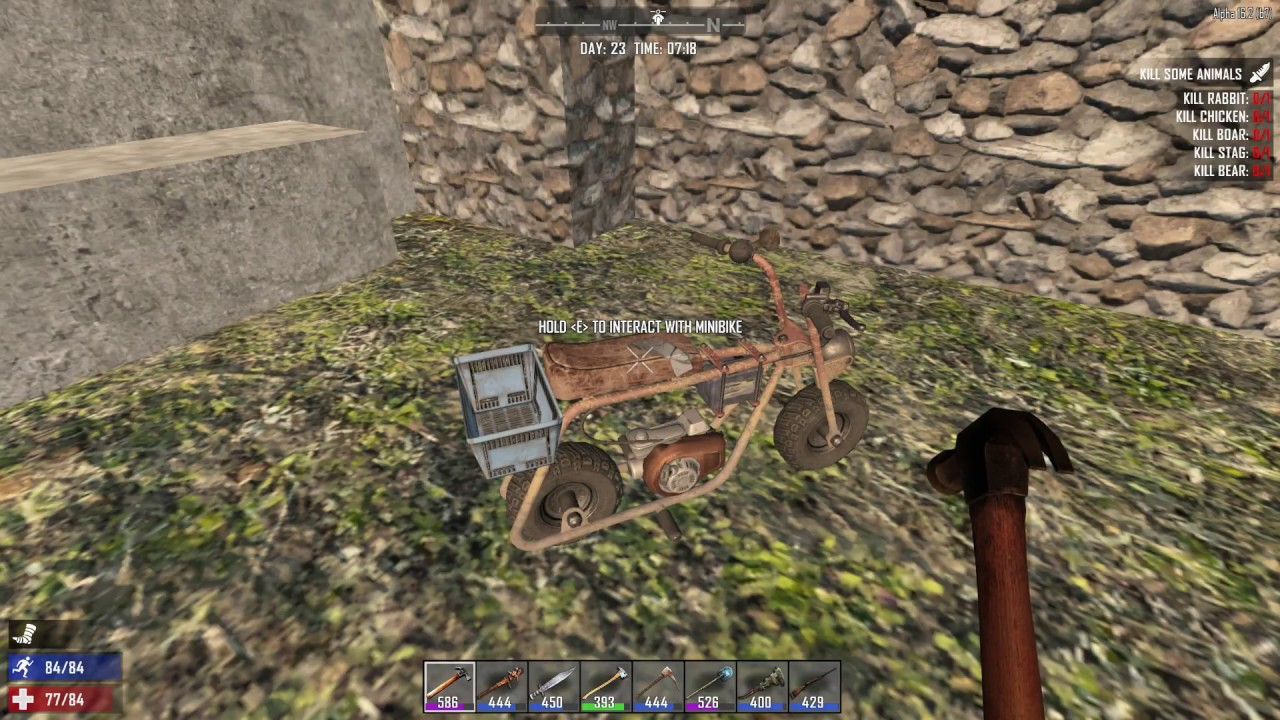 How To Refuel A Minibike 7 Days To Die Youtube