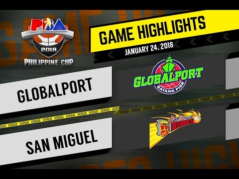 PBA Philippine Cup 2018: Globalport vs. San Miguel Beer Jan. 24, 2018