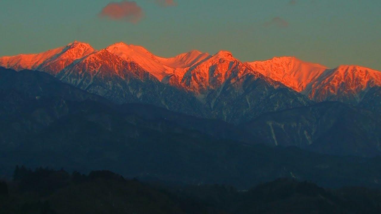 冬の中央アルプス 空木岳、赤椰...