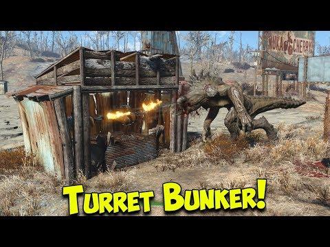 Fallout 4 - Best Settlement Defence   Turret Bunker