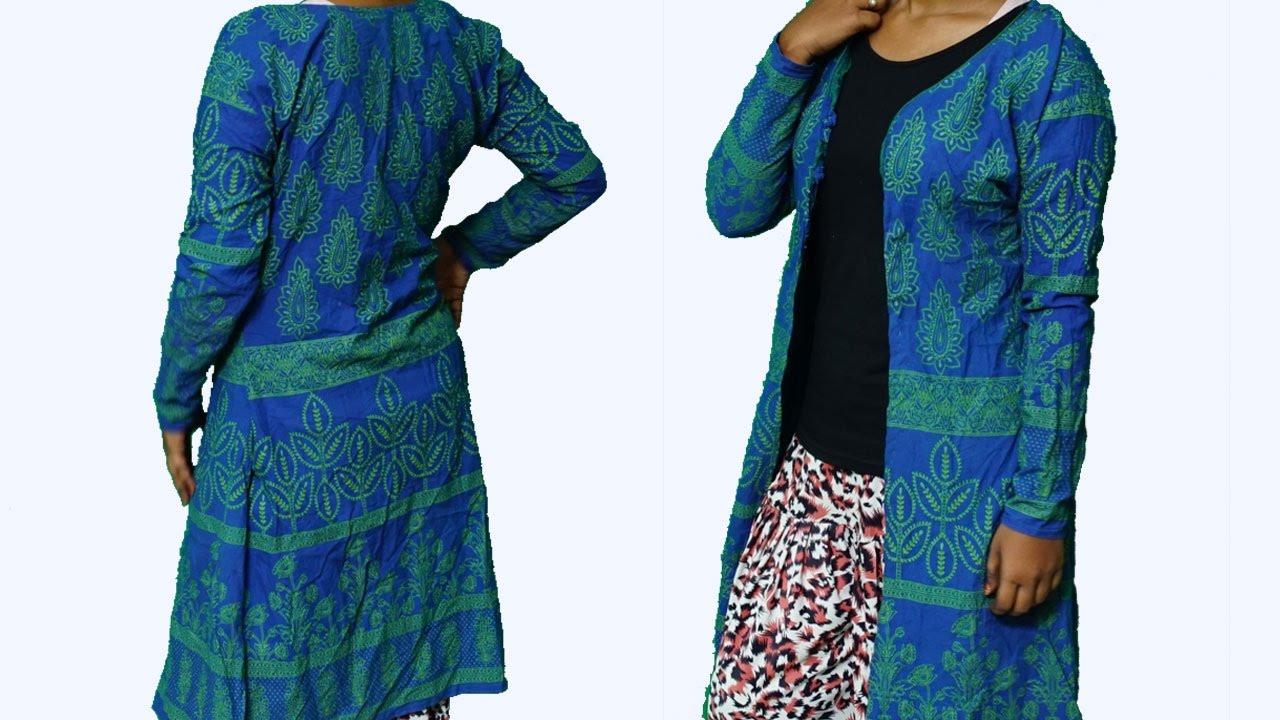 DIY Clothes Old Kurta Into Shrug | DIY | Refashion Clothes ...