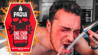 Eating The Worlds HOTTEST Chip (Carolina Reaper Pepper) - One Chip Challenge