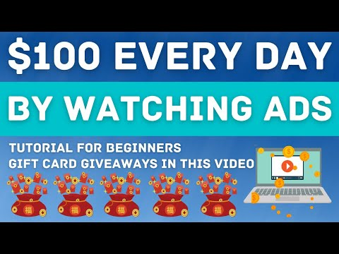 Earn $100 EVERY DAY By Watching Ads! EASY Make Money Method! (Make Money Online Clicking Ads)