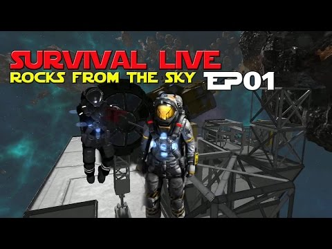 Space Engineers - Rocks From The Sky..  Ep 1
