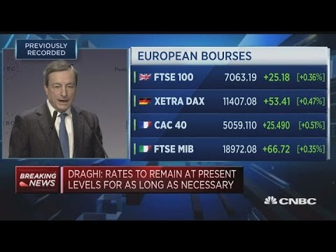 ECB's Draghi: Patience and persistence in our monetary policy are still needed | Squawk Box Europe