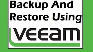 Veeam Backup and Restore on VSphere