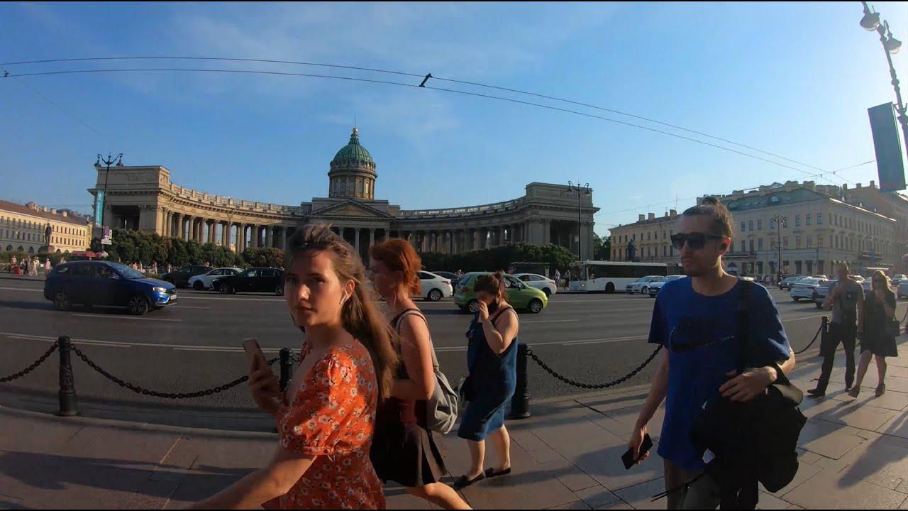 Russia, Walking in Saint-Petersburg, Kazan Cathedral, Mal. Konyushennaya st., Griboyedov channel 4K.