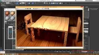 3DS Max. Создание простого стула,стола и материала к ним.(Урок для начинающих. В этом уроке демонстрируется editpoly в 3ds max. При помощи полигонального моделирования..., 2014-08-06T13:33:31.000Z)