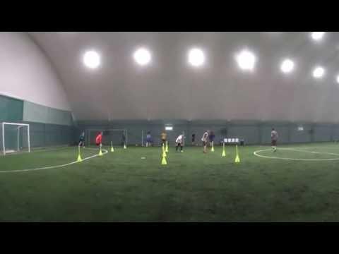 Тренировка вратаря в футболе. Развитие быстроты ног , координации и технических качеств .