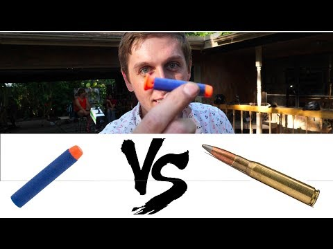 What happens when a NERF dart breaks the SPEED OF SOUND?