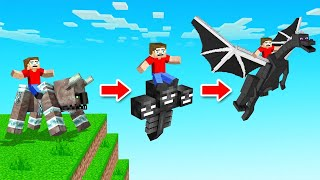 We Can RIDE MINECRAFT BOSSES! (dangerous)