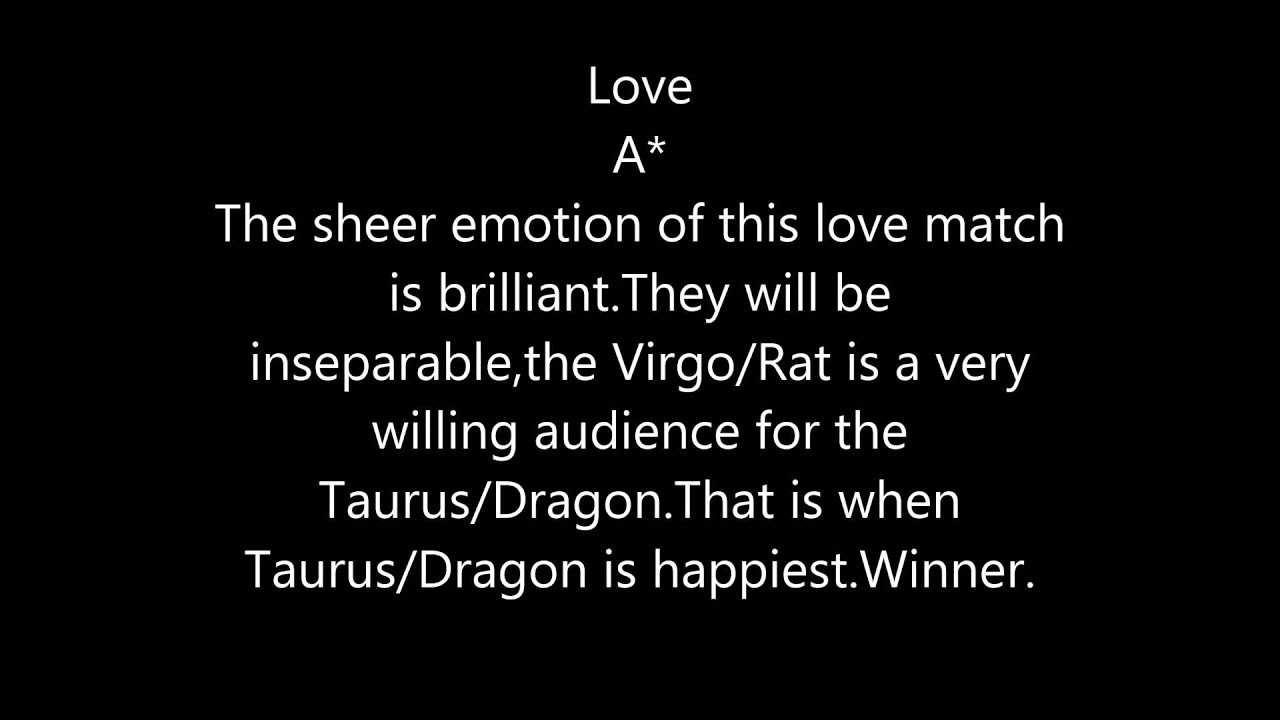 Taurus loves virgo