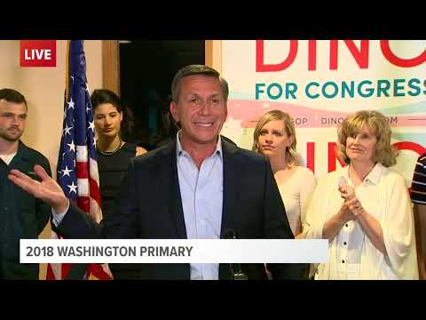 Republican Dino Rossi speaks about advancing in race for 8th District