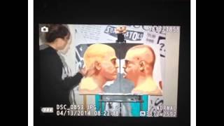Brittney Palmer paints Tito Ortiz vs Chuck Liddell