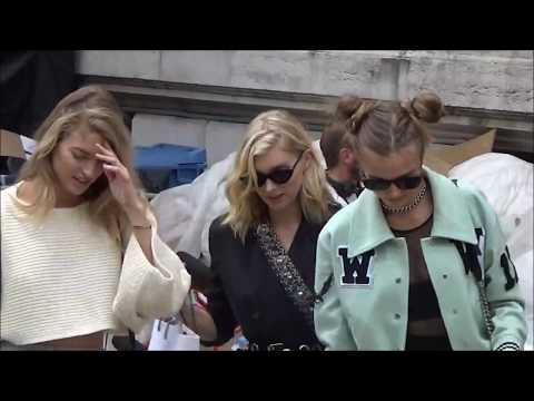 Top Models after Balmain Show @ Paris Fashion Week 28 september 2017 #PFW