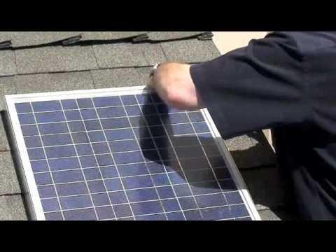 Solar Panel Install Shingle Roof Led Lighting Free Power