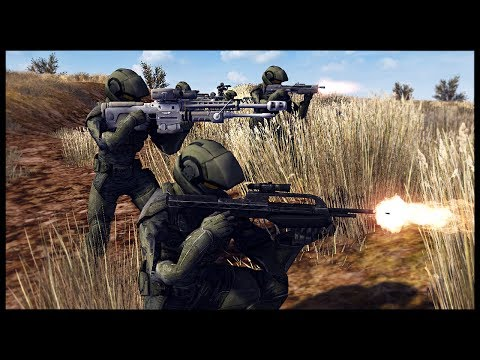 UNSC MARINE FORCE RECON! Spartans, Marines and ODST - Call to Arms Halo Mod Gameplay