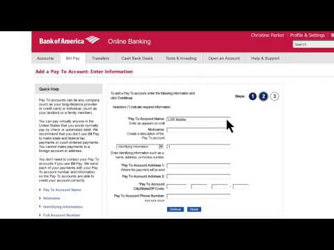 Bank Of America -How To Set Up Online Bill Pay