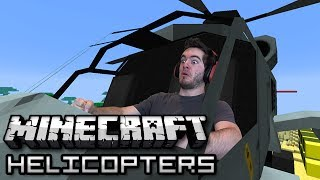 Minecraft: Military Helicopters w/ Weaponry! (Helicopter Mod Showcase)