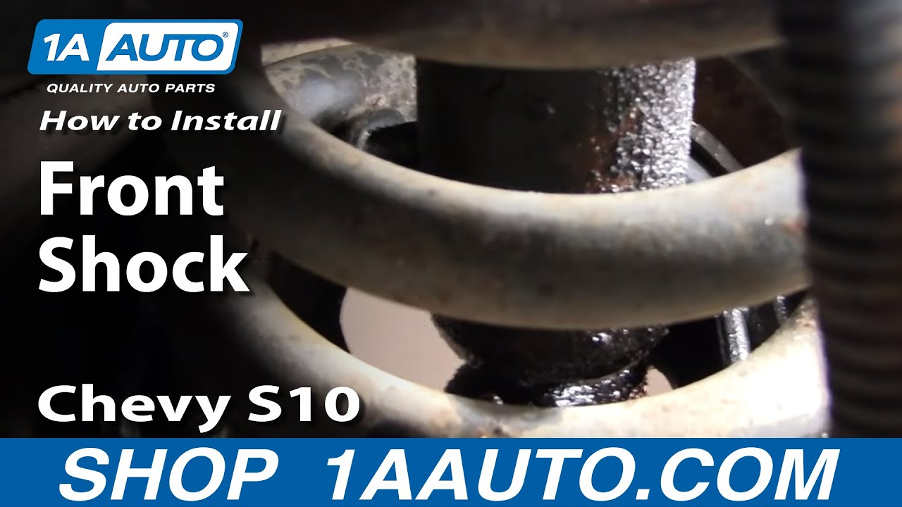 how to install replace front shocks chevy s10 pickup and gmc s15 sonoma truck 82 04 1aauto com youtube [ 1920 x 1080 Pixel ]