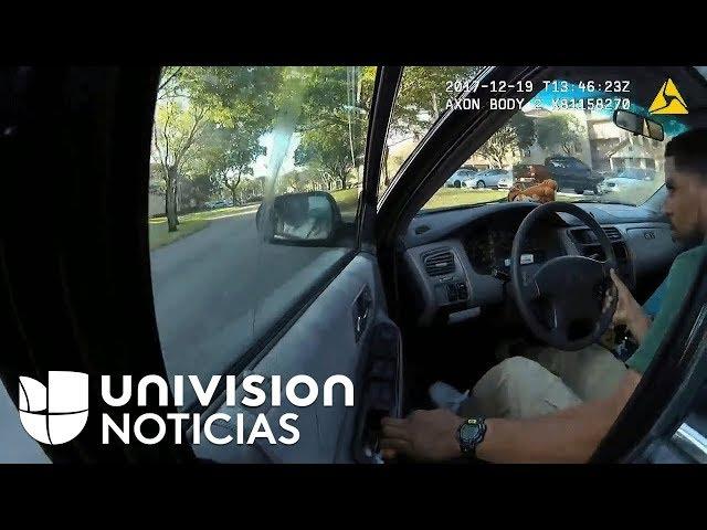 Un policía es arrastrado por un coche durante casi un kilómetro