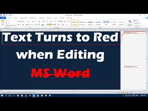 Text Turns To Red When Editing - MS Word