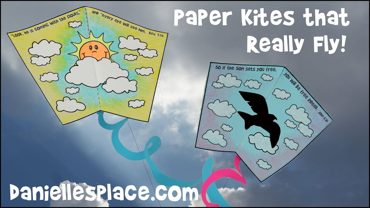 Paper Kite Craft For Children