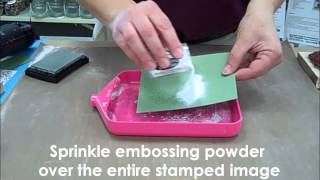 How-to: Emboss with Rubber Stamps