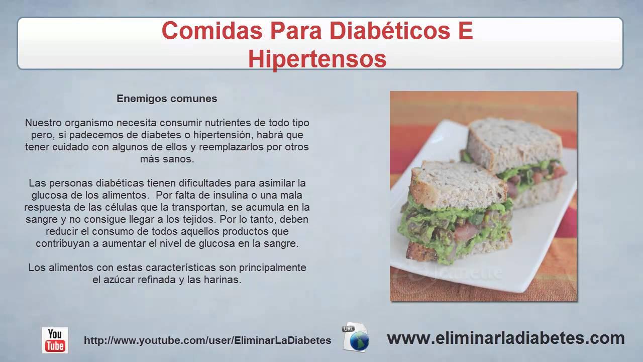 Comidas Para Diabeticos E Hipertensos  Tratamiento