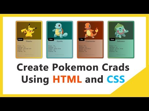 How To Create Pokemon CSS Cards Using HTML And CSS