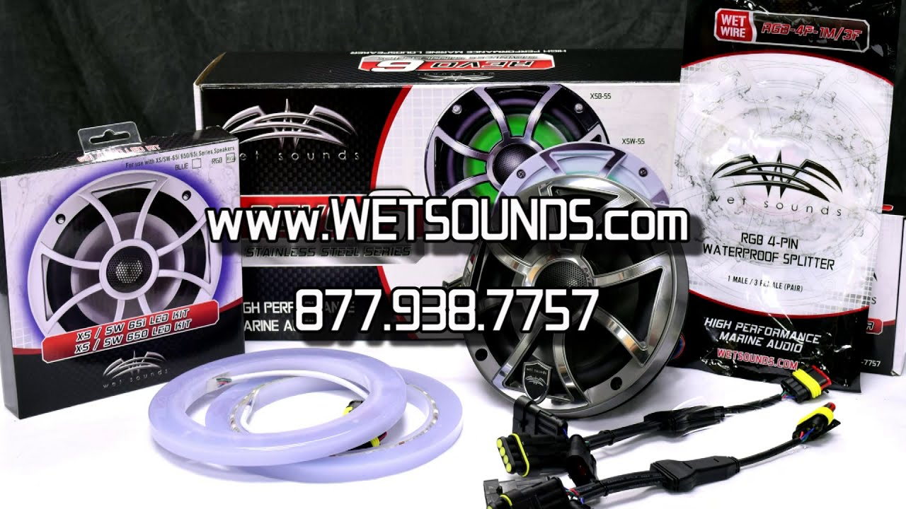 Wet Sounds 4 Pin Rgb Connector Youtube Wakeboard Tower Wiring Diagram