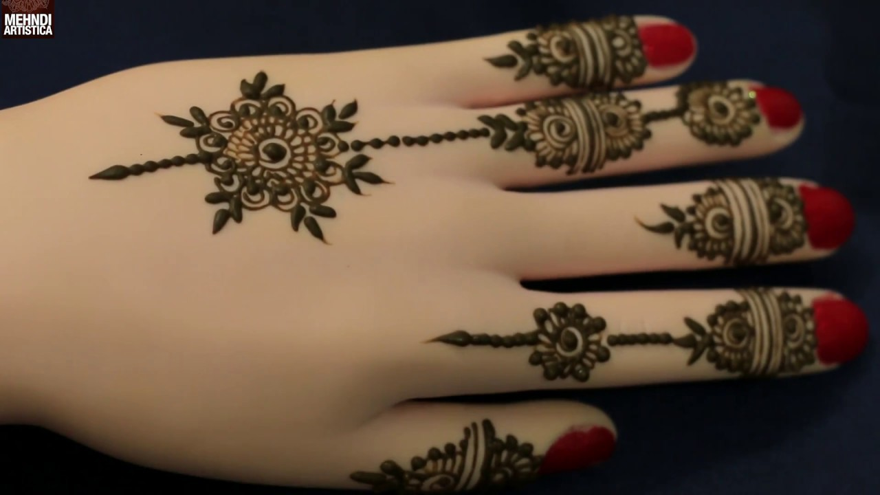 Simple Mehndi Designs For Hands 2017: Diy Beautiful Simple Easy Jewellery Henna Mehndi Design For Hands rh:youtube.com,Design