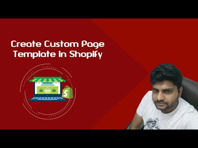 Create Shopify custom page template | custom template for Shopify landing page
