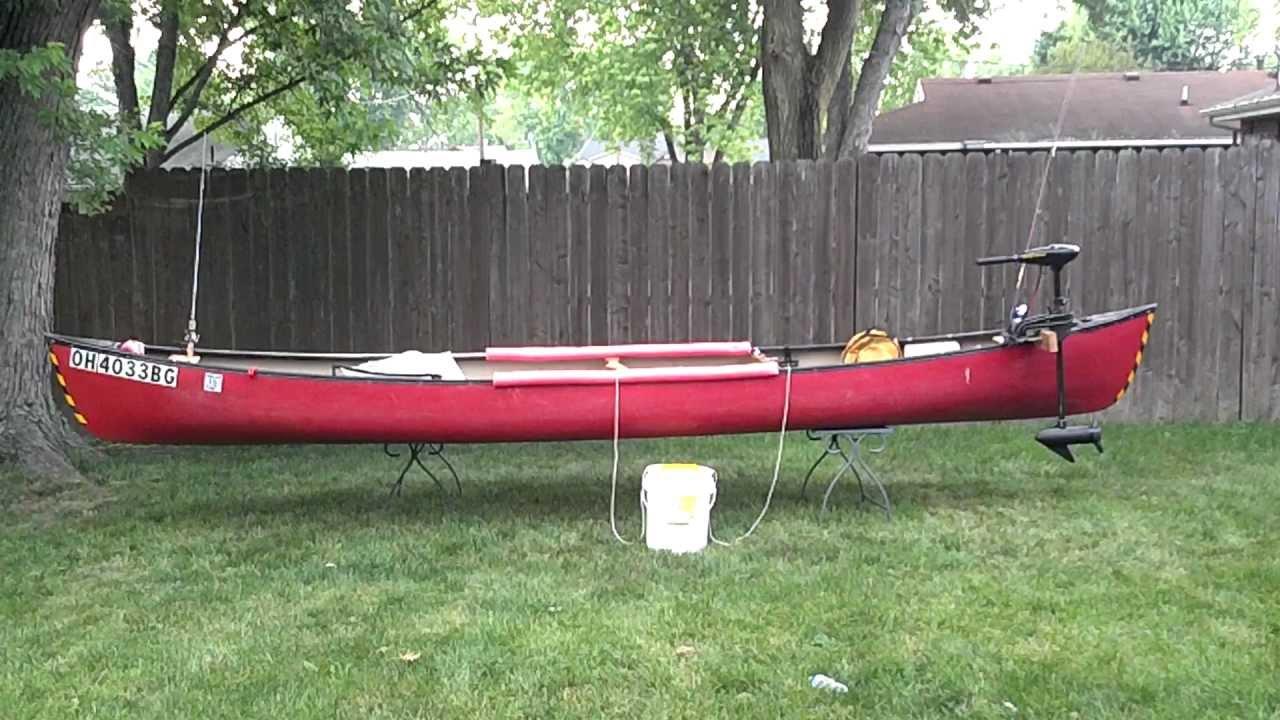 My Fishing Canoe Setup With Trolling Motor Mount Youtube