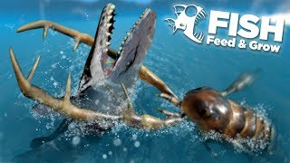 GIANTS SEA SCORPION EATS THE MOSASAUR!!! - Fish Feed Grow Mp3